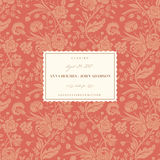 Coral wedding card Royalty Free Stock Image