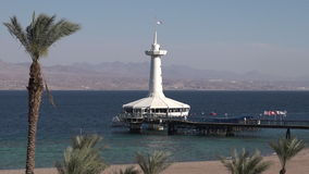 Coral World Underwater Observatory aquarium in Eilat Israel. EILAT, ISR - APRIL 14 2015: Coral Beach Nature Reserve in Eilat, Israel.It's one of the most stock video