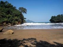 Coral y playa Imagen de archivo libre de regalías