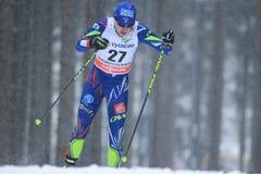 Coraline Thomas Hugue - Cross Country-Skifahren Lizenzfreie Stockfotografie
