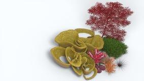 Corallo 3D Fotografie Stock Libere da Diritti