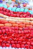 Corals. Close up of the different coral beads Royalty Free Stock Photography