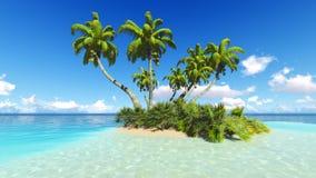 Corals Island Sea 3D rendering Stock Photo