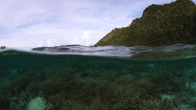 Corals and Limestone Islands in Raja Ampat stock footage