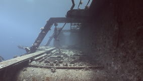 Corals on parts of sunken ship Salem Express underwater in the Red Sea in Egypt. Corals on the parts of sunken ship Salem Express underwater in the Red Sea in stock footage