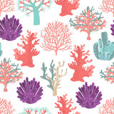 Corals seamless pattern Stock Photos