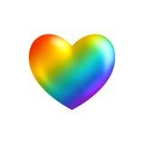 Coração alegre no branco Imagem de Stock Royalty Free