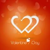 Coração bonito para a celebração do dia de Valentim Fotografia de Stock Royalty Free