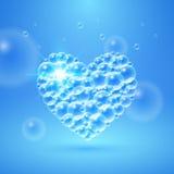 Coração brilhante das bolhas Imagem de Stock
