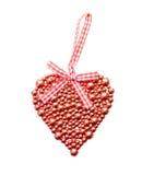Coração brilhante vermelho Fotografia de Stock Royalty Free