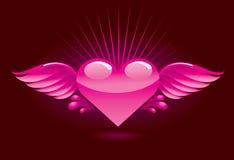 Coração com asas Fotos de Stock Royalty Free