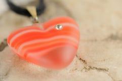 Coração com diamante Fotografia de Stock Royalty Free