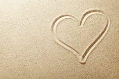 Coração da areia Imagem de Stock