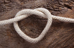 Coração da corda Fotos de Stock