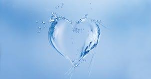 Coração da água Fotos de Stock Royalty Free