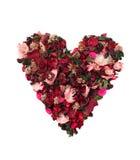 Coração das flores Fotos de Stock
