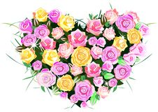 Coração das rosas Imagem de Stock Royalty Free