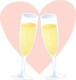 Coração de Champagne Fotografia de Stock Royalty Free