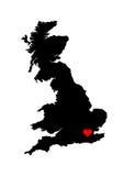 Coração de Inglaterra Fotos de Stock