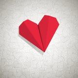 Coração de papel Fotos de Stock