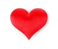 Coração de seda Fotos de Stock Royalty Free
