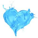 Coração do Aqua Fotos de Stock Royalty Free