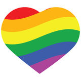 Coração do arco-íris Fotos de Stock