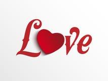 Coração do dia do Valentim eu te amo Foto de Stock Royalty Free