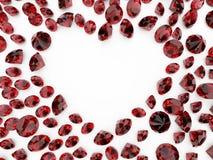 Coração do diamante Fotografia de Stock Royalty Free