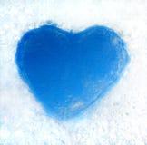 Coração do gelo Foto de Stock