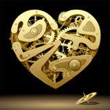Coração do maquinismo de relojoaria Imagens de Stock