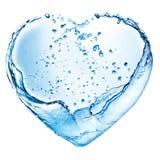 Coração do Valentim feito do respingo da água Imagens de Stock