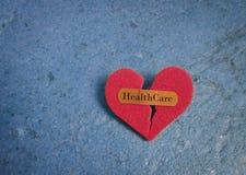 Coração dos cuidados médicos Imagem de Stock