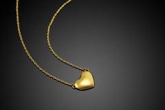Coração dourado Imagens de Stock