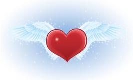 Coração e asas. Imagem de Stock Royalty Free
