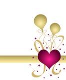 Coração e balões Fotos de Stock