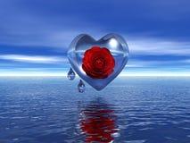 Coração e gotas Imagens de Stock Royalty Free