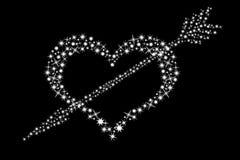 Coração e seta Fotografia de Stock Royalty Free