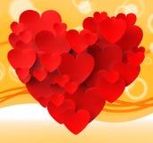 Coração feito com paixão do romance dos meios dos corações Imagem de Stock Royalty Free