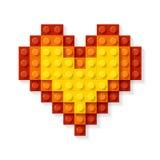 Coração feito dos blocos plásticos Imagem de Stock Royalty Free
