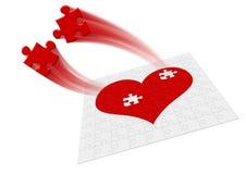 Coração - movimento Imagem de Stock Royalty Free