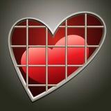 Coração na cadeia Fotos de Stock