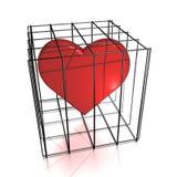 Coração na cadeia Imagem de Stock