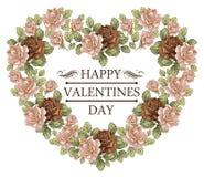 Coração no dia de Valentim. Cartão. Imagens de Stock