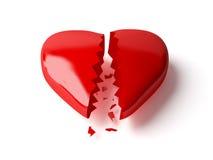 Coração quebrado Fotografia de Stock Royalty Free