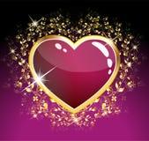 Coração roxo do vidro Imagem de Stock Royalty Free