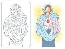 Coração sagrado de Mary Fotos de Stock
