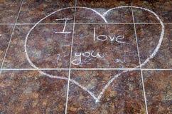 Coração tirado no giz Fotografia de Stock