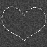 Coração tirado no giz no pavimento Fotografia de Stock