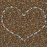 Coração tirado no giz no pavimento Imagens de Stock